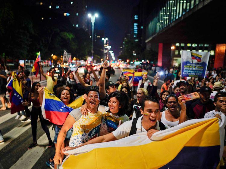 Venezuelan anti-government protesters