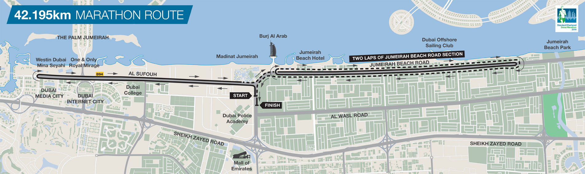 standard chartered marathon map
