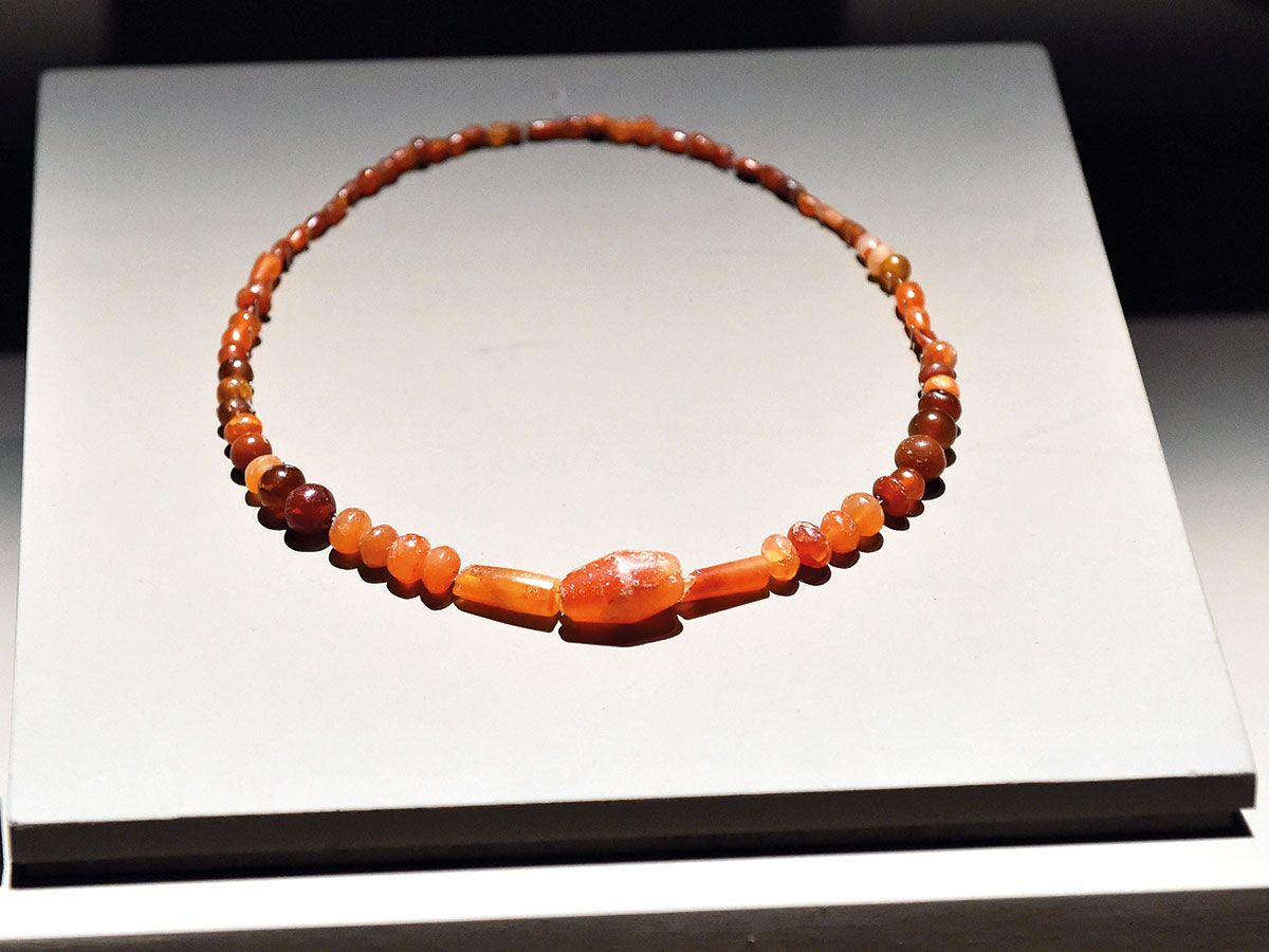 A bead necklace from the UAE dating back  to 2500-2000BC