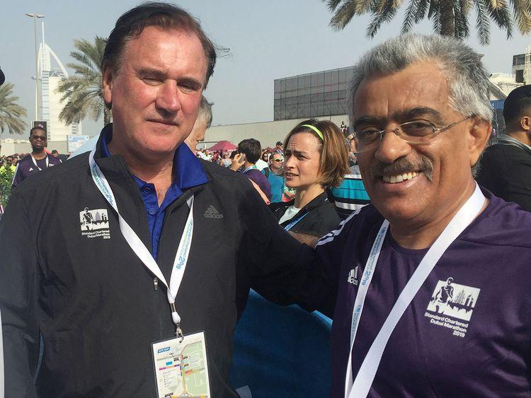 Peter Connerton (left) and Ahmad Al Kamali
