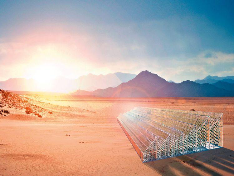Photovoltaic glass used in new-gen greenhouses by Marjan van Aubel.