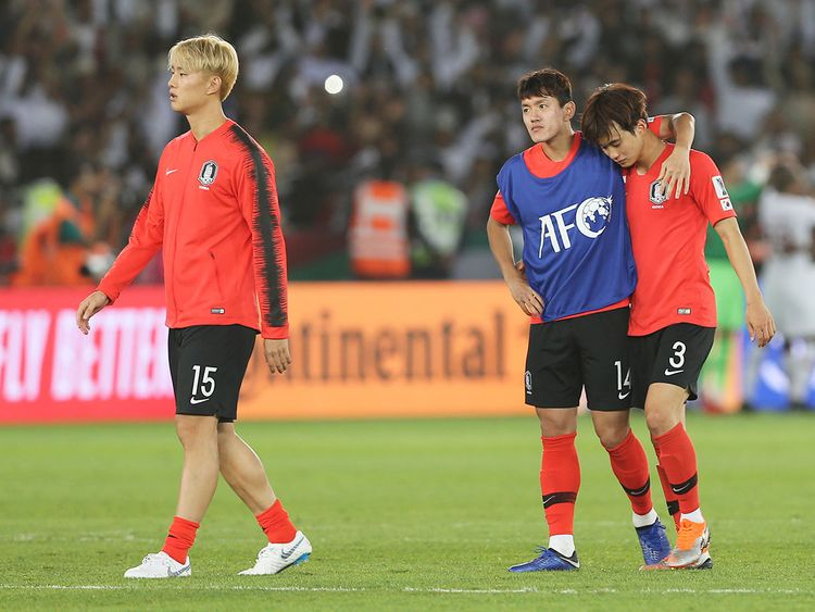 South Korea's defender Hong Chul