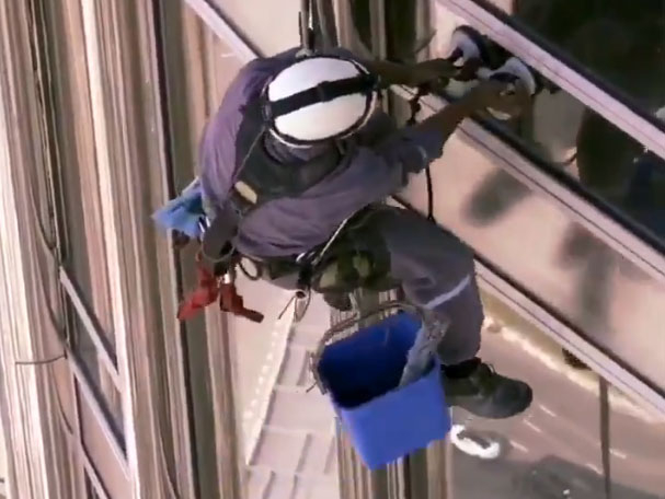Burj Khalifa window cleaner