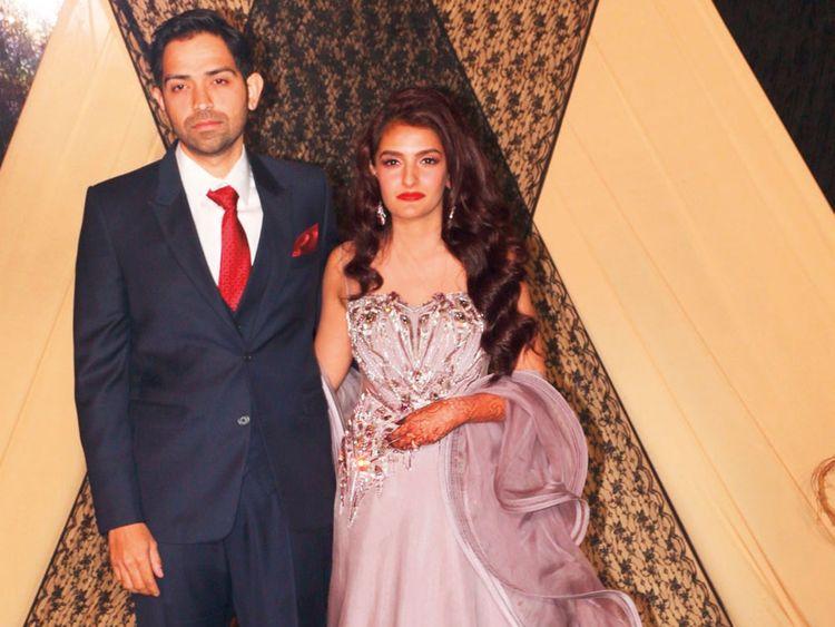 The newlyweds, Sakshi Bhatt and Mazahir Mandasaurwala.