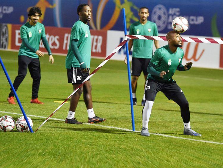 UAE football team during a training session