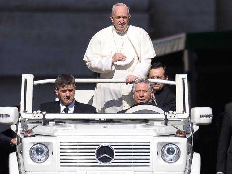 Pope Francis Merc popemobile