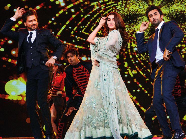 Shah Rukh Khan, Ranbir Kapoor and Alia Bhatt