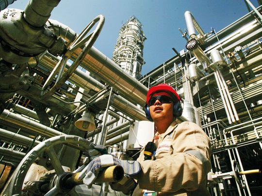 An oil refinery in Venezuela. oil field