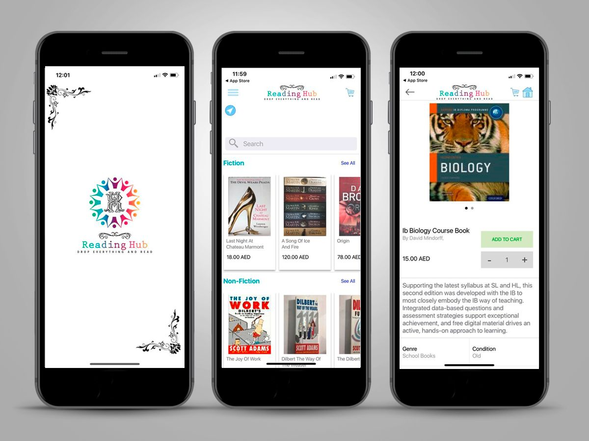 Reading hub screenshots