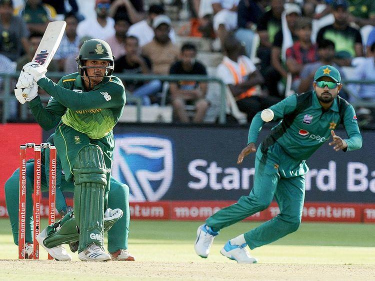 South Africa's batsman Quinton de Kock