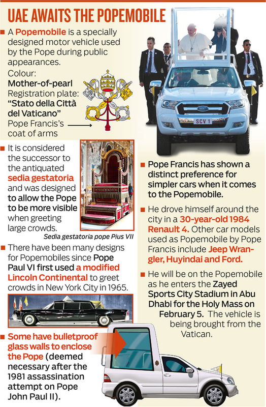 UAE AWAITS THE POPEMOBILE