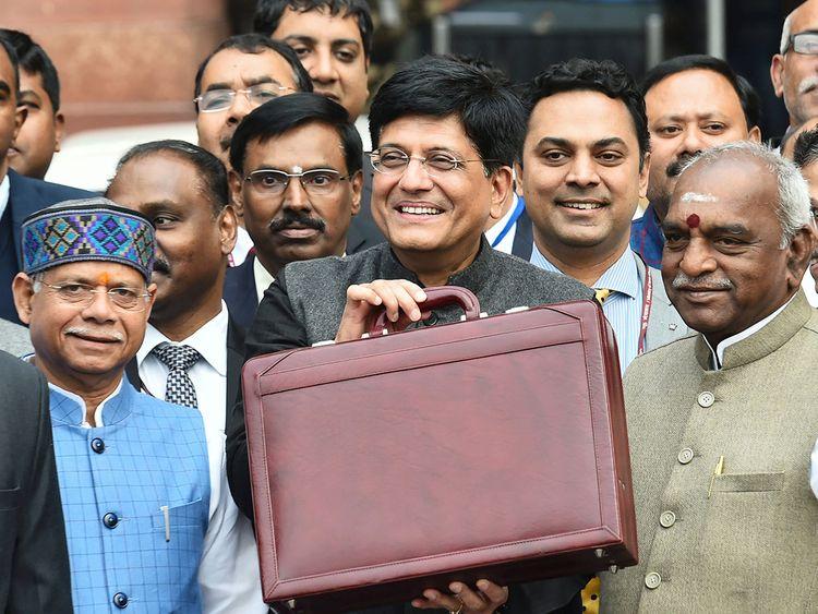 India's Finance Minister Piyush Goyal