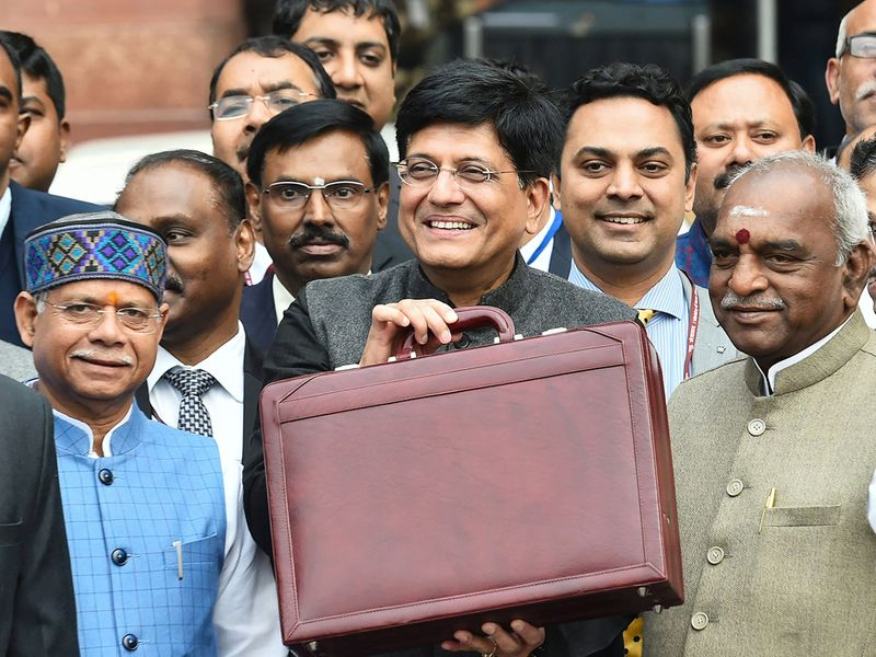 India's Finance Minister Piyush Goyal