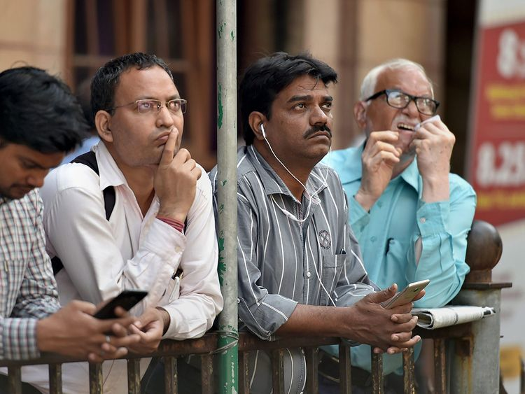 People watch the interim Union Budget session 2019-20