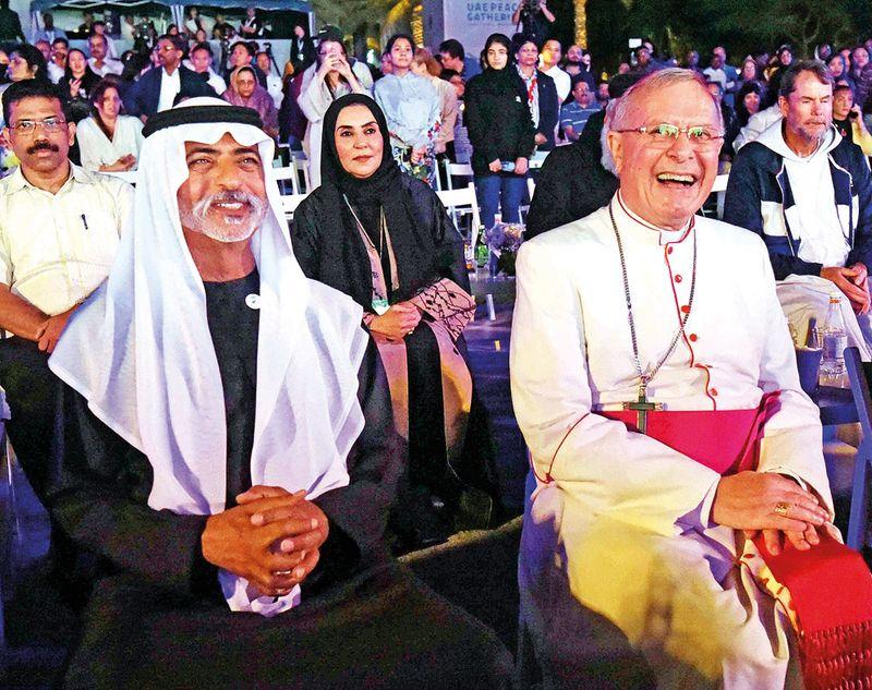 Shaikh Nahayan with Bishop Paul Hinder
