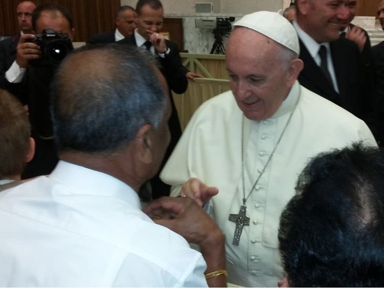 Abu Dhabi couple that was blessed by the Pope marriage anniversary NEW