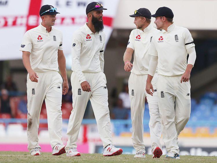 England players Joe Denly, Moeen Ali, Joe Root and Rory Burns