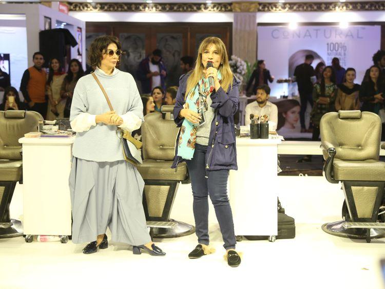 Stylist-Nabila-with-Frieha-Altaf-at-the-beauty-expo-1549261520645