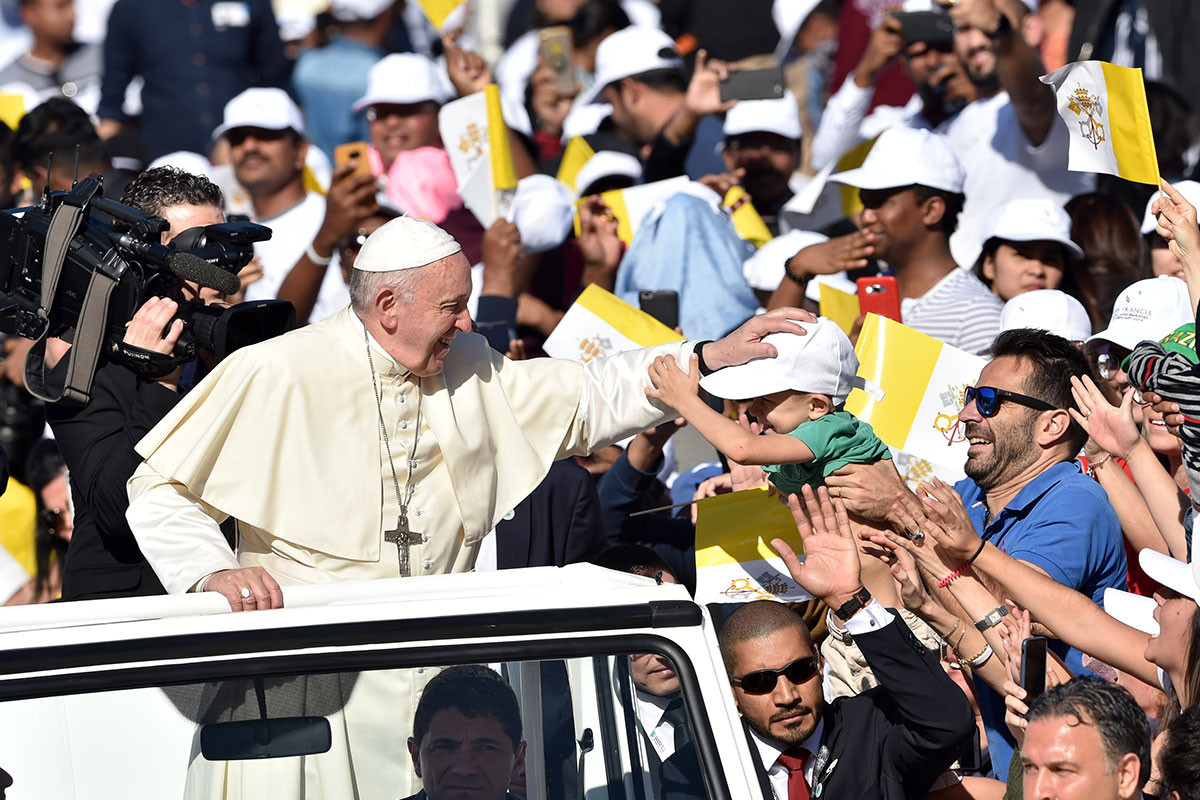 Pope Francis blesses
