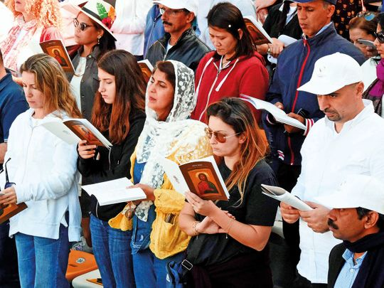 Worshippers from all walks of life take part