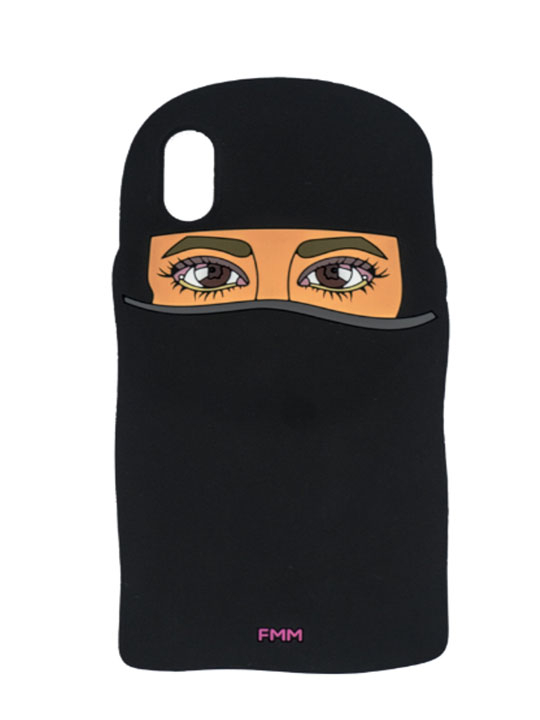 BLACK NIQAB SILICON CASE