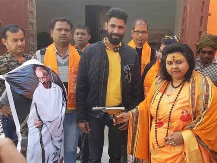 Pooja Shakun Pandey was filmed shooting the effigy 20190206
