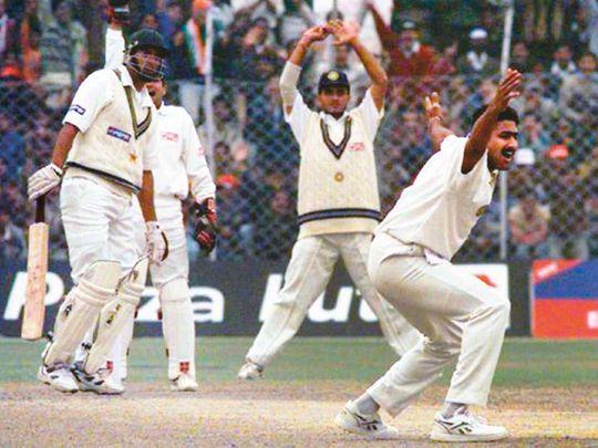Indian leg-spinner Anil Kumble