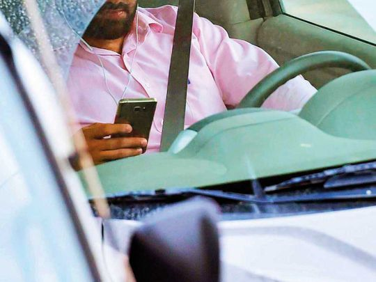 Phoning while driving