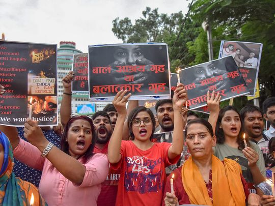 Protest for sexual abuse