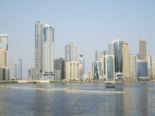 Sharjah skyline.