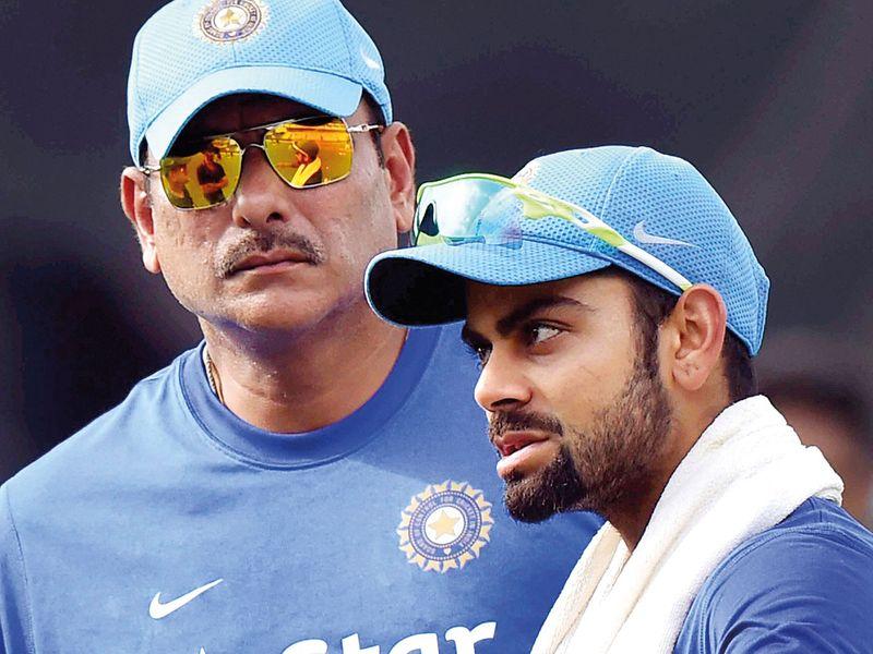 Ravi Shastri with Virat Kohli