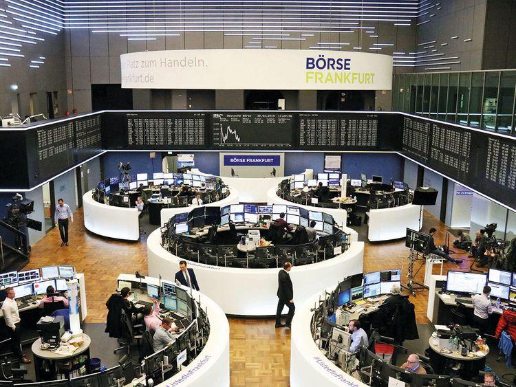 The stock exchange in Frankfurt
