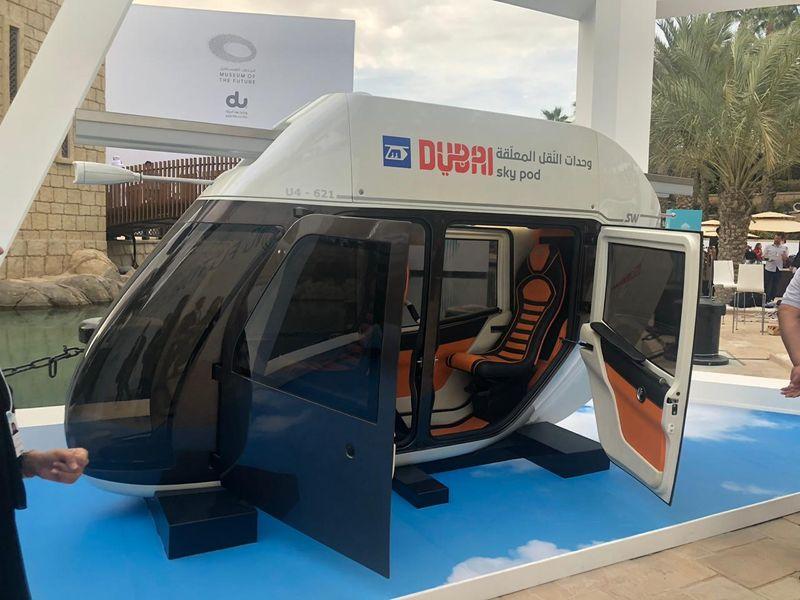 Dubai Sky pods are a futuristic mobility system planned in Dubai.