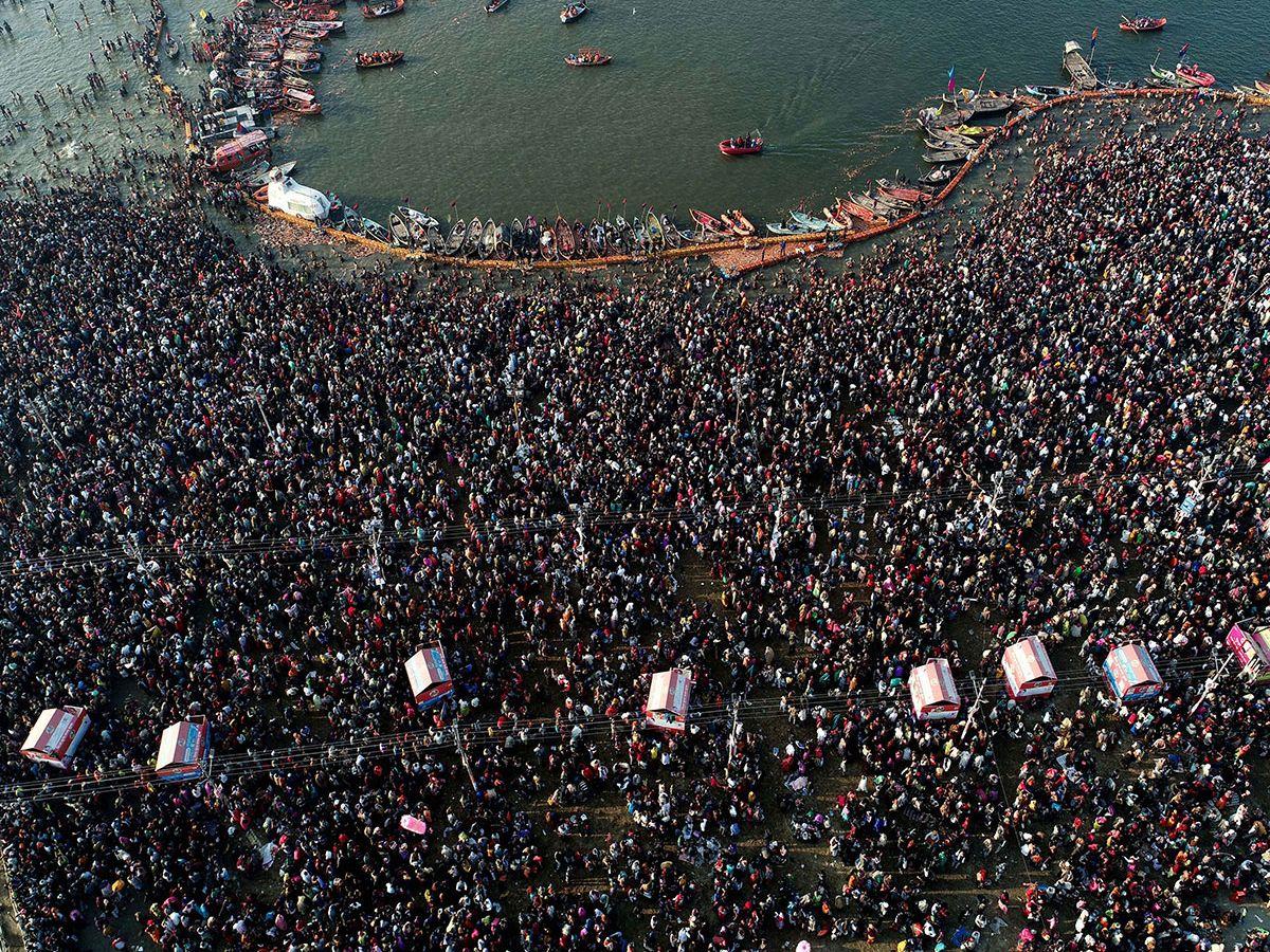 A sea of devotees gathered at Sangam 4