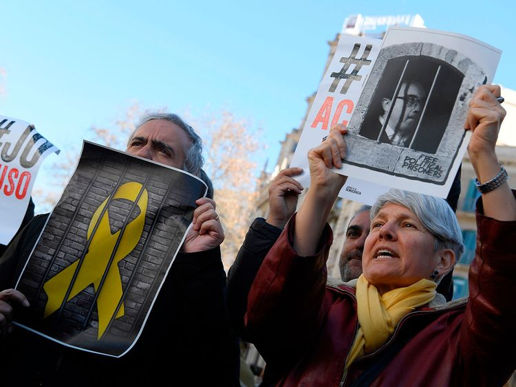 190212 Catalan protest