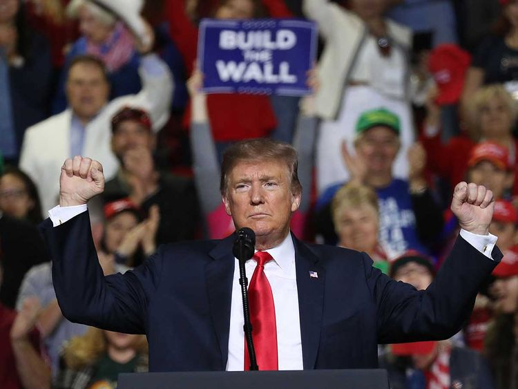 Donald Trump speaks during a rally at the El Paso  20190212