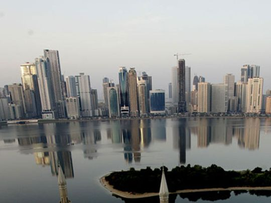 The Sharjah skyline.