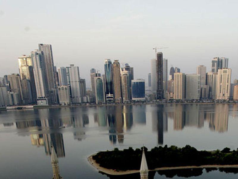 The Sharjah skyline.