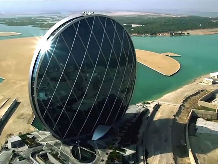 The Aldar headquartrers in Abu Dhabi
