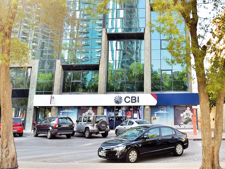 A Commercial Bank International (CBI) branch in Bur Dubai