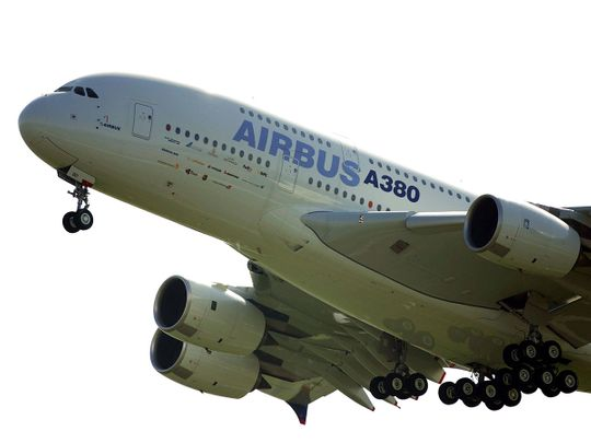 Airbus A380 taking off on its maiden flight 20190214