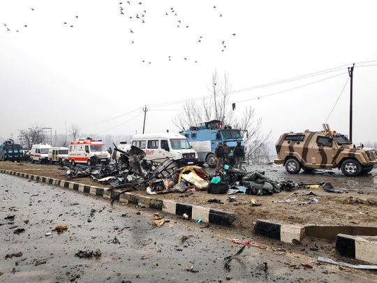 Lethpora in south Kashmir's Pulwama district