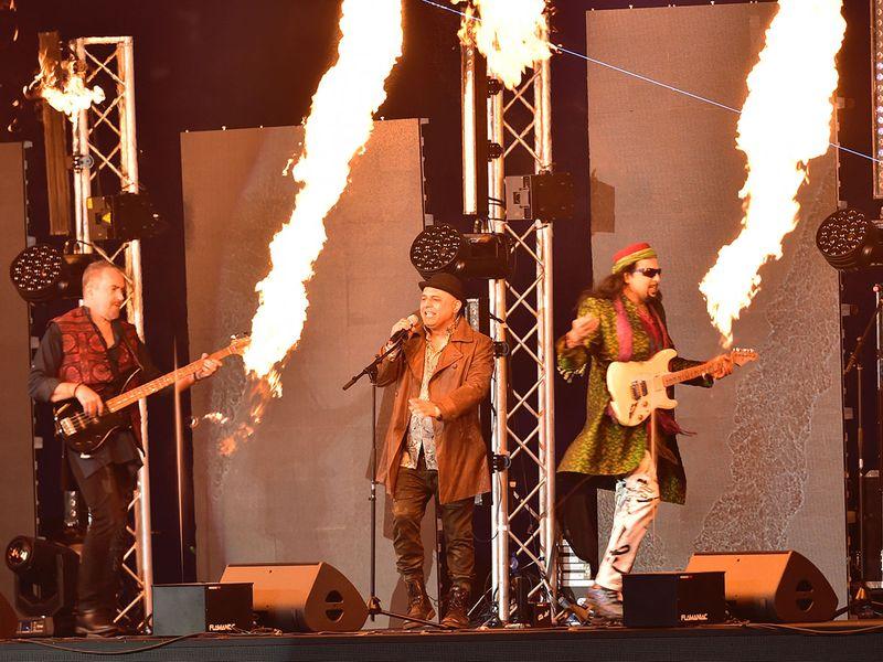 Music band Junoon Sofi perform