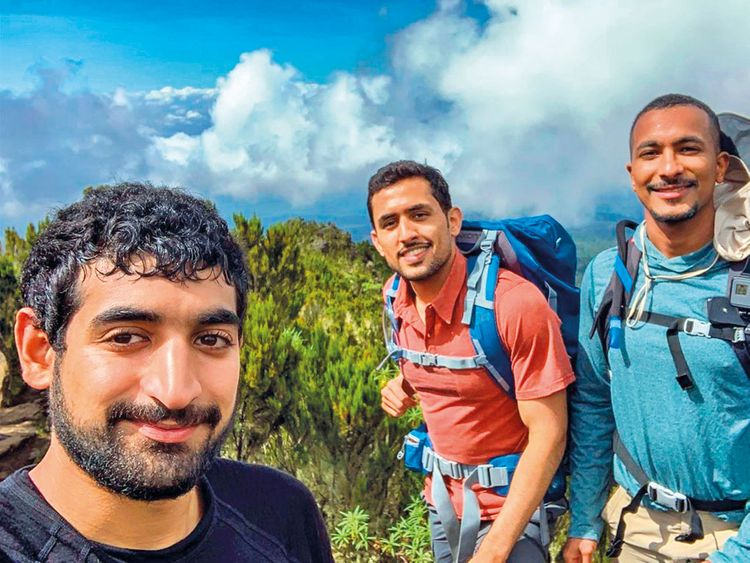Saud-Al-Qasimi,-Omar-Al-Jahdami,-Mohammed-Al-Shehhi-Raise-UAE-Flag-atop-Mount-Kilimanjaro1-(Read-Only)