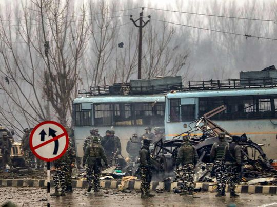uicide bomb attack at Lathepora Awantipora in Pulwama district of south Kashmir