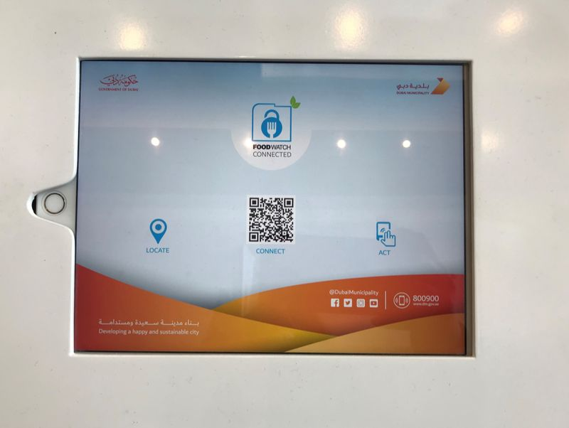 Scan QR codes to get food safety record of restaurants in Dubai