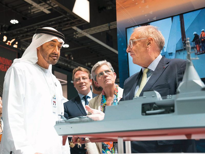 Shaikh Mohammad Bin Zayed tours Idex