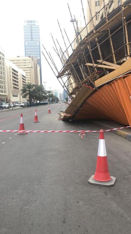 Broken scaffolding