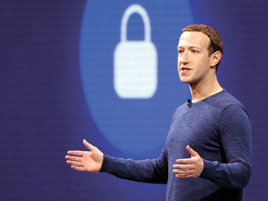 Facebook CEO Mark Zuckerberg delivers the keynote speech at F8