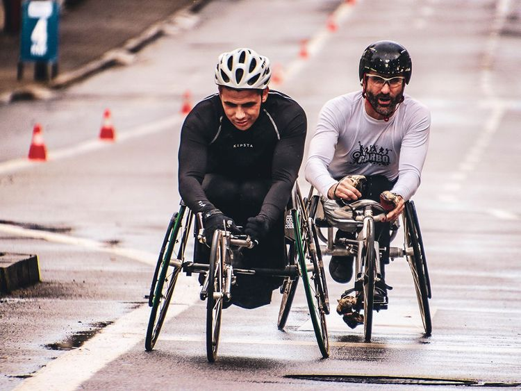 Men on wheelchairs, generic